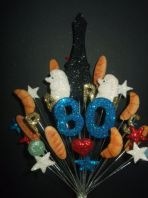 Paris 80th birthday cake topper decoration - free postage